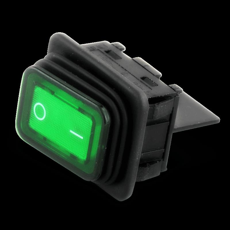 Schakelaar/controlelamp Groen