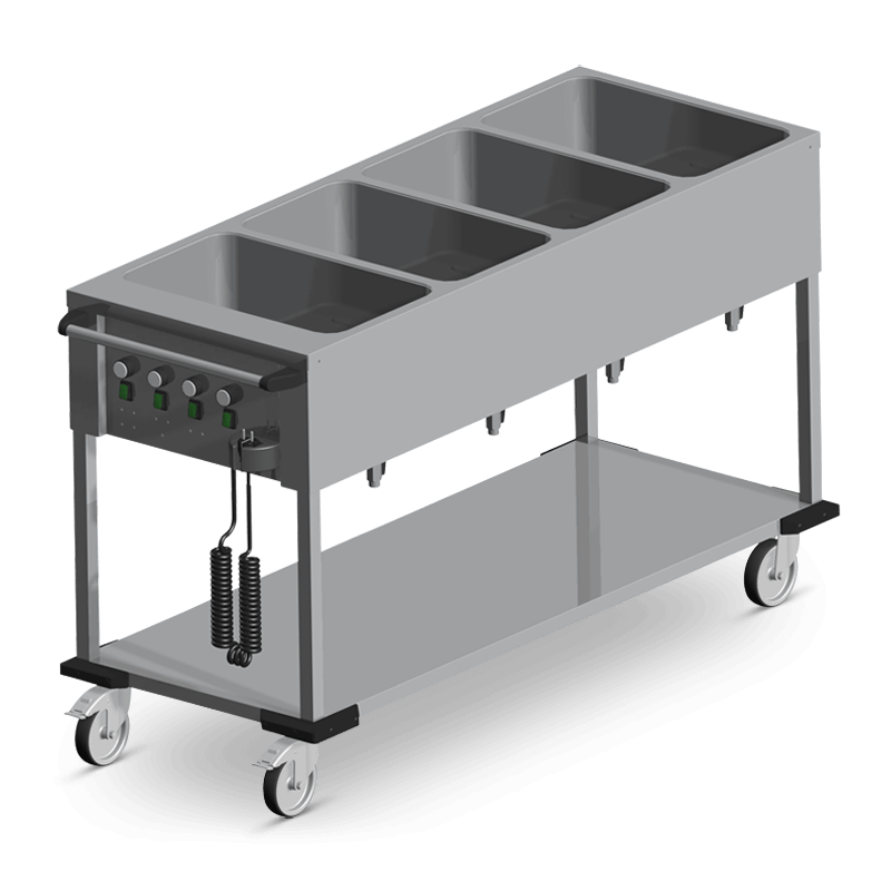 Bain-Mariewagen 4 X 1/1 Gn